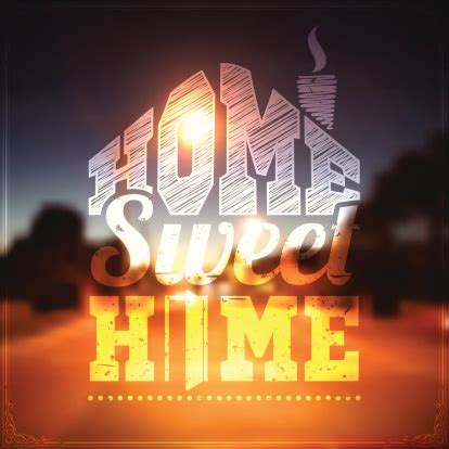 home sweet home bright background stock illustration