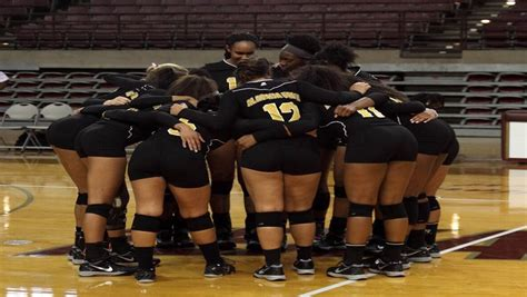 alabama state university volleyball team lady hornet volleyballers clinch swac east division title