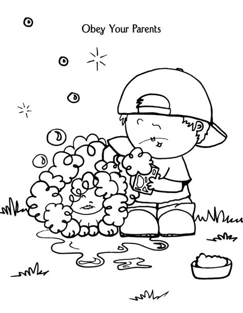 Children Obey Your Parents Coloring Page bible coloring pages for sunday school lesson