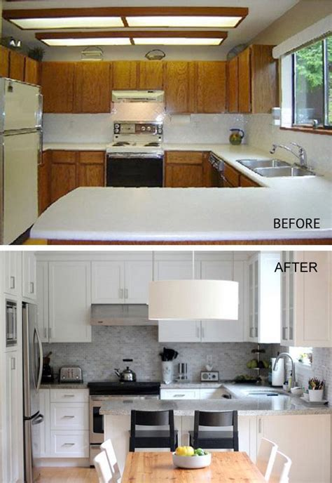 Sprucing Up Kitchen Cabinets Pretty Before And After Kitchen Makeovers