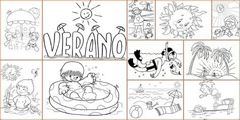 dibujos infantiles para colorear del verano dibujos para colorear el verano