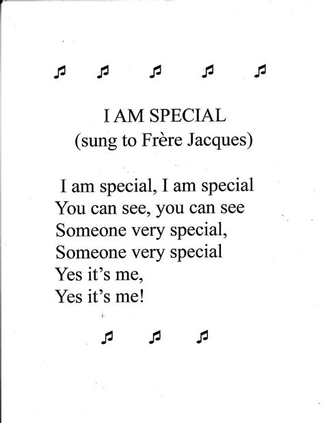 song special preschool song i am special preschool songs songs and