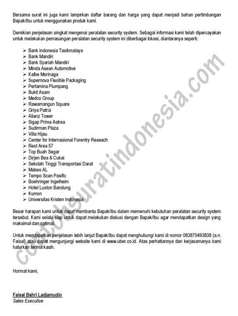 Surat Permintaan Informasi Atau Keterangan Produk by Surat Penawaran Contoh Surat Indonesia