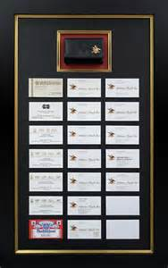 business card frame masterpiece framing corporate contract services