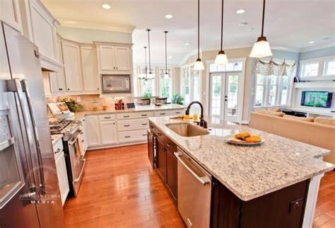 kitchen open white kitchen center island corner open floor plan with windows split foyer remodel ideas