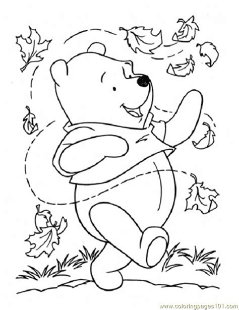 leaves printable az coloring pages winnie the pooh