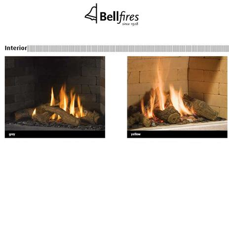Gas Fireplace Yellow by Bellfires Fireplaces Vento Large 3 Yellow Stones 93 Cm Wood And Gas Fireplaces Cheminee