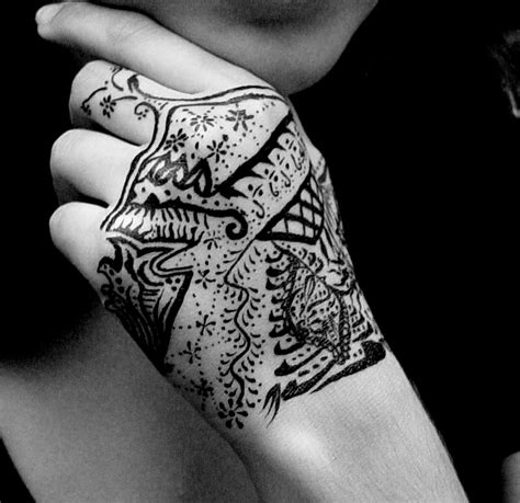 hand india ink tattoo by 7scorpio1992 on deviantart