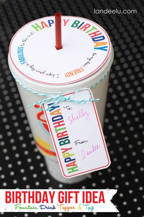 birthday gift idea drink topper and tag landeelu com
