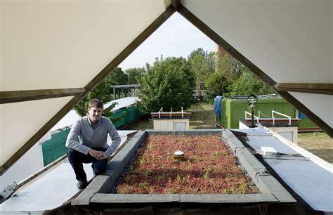 Plant Cloddig plant cladding keeps the temperature cool indoors despite