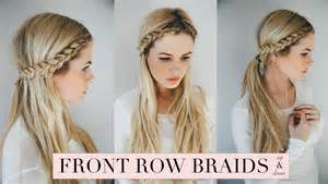 braids in front hair in back tutorial front row braid youtube