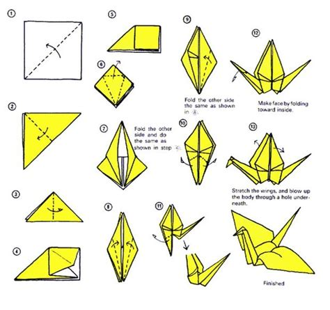 Origami Crane Printable - how to do origami crane alfaomega info