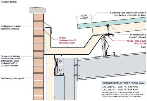 design hub definition parapet gutter to brick detail t6 pinterest brick