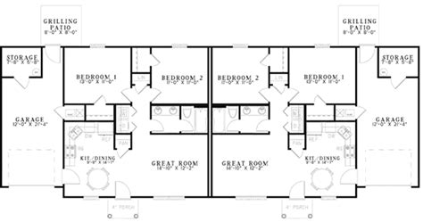 Ranch Duplex Plans by Pics For Gt Ranch Duplex House Plans