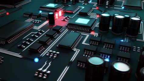 abstract circuit board high technology  animation