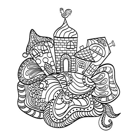 houses   child dream architecture adult coloring pages