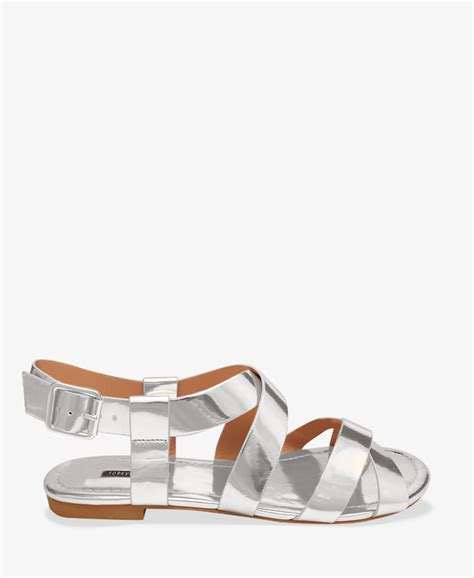 forever 21 sandals forever 21 metallic sandals in metallic lyst
