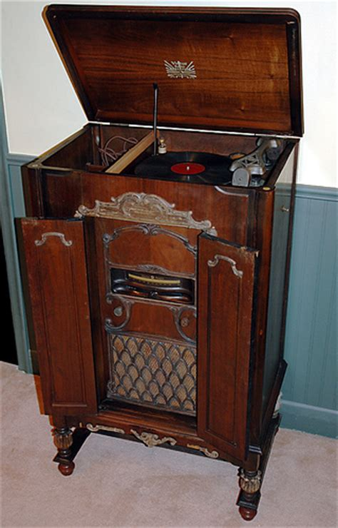 antique record player cabinet antique radio forums view topic console radio from the
