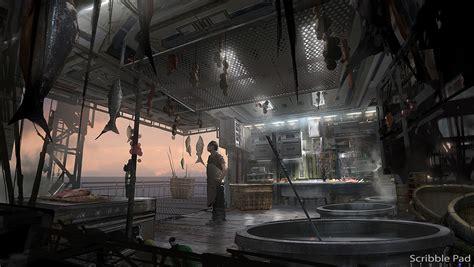 Interior Concept Design Video Games Artwork