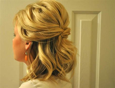 Hairstyles For Short Hair Half Up | cute prom hairstyles half up half down for long hair