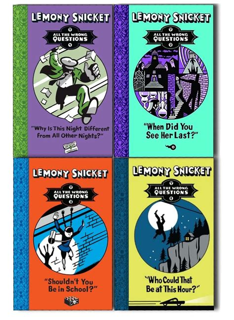 Lemony Set lemony snicket all the wrong questions 4 books collection