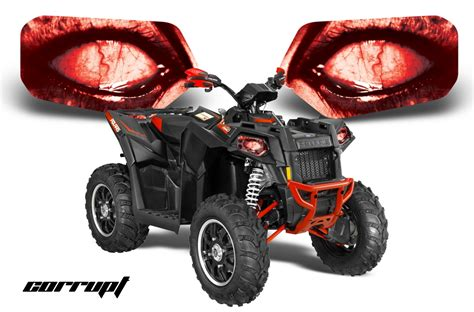 Light Depot Polaris Scrambler Head Light Eye Graphics For Scrambler 2013