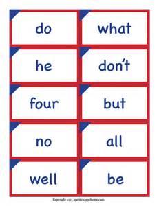 kindergarten sight words printable flash cards boxfirepress