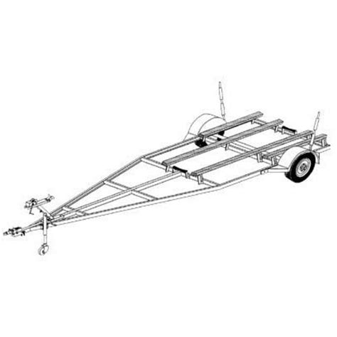 boat trailer plans free diy boat trailer blueprint northern tool equipment