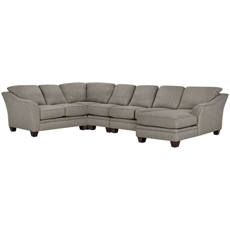gray fabric sectional with chaise city furniture avery gray fabric large right chaise