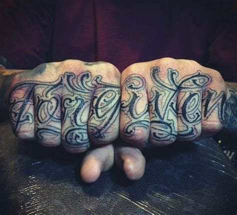 finger word tattoos top 100 best knuckle tattoos for a of ideas