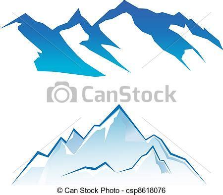 clipart montagna clip vecteur de montagne ensemble csp8618076