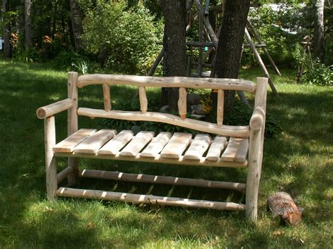 benches made from logs cedar log benches benches chairs handcrafted log furniture by cedar stuff