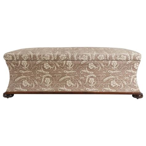 large upholstered bench large upholstered hassock bench or ottoman england circa