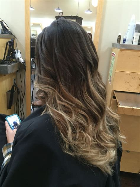photos brown hair with blpnde ends long hair ombre on dark hair with blonde ends by veronica