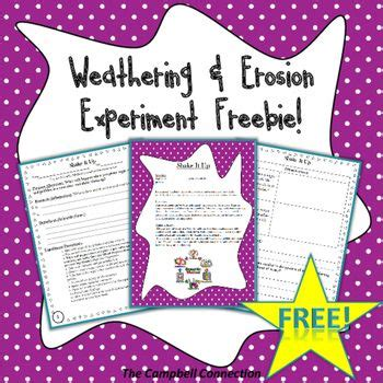 design a weathering experiment weathering and erosion pinterest