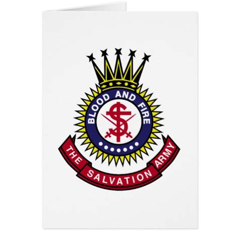 Salvation Army Gift Cards - blood and fire salvation army classic logo greeting card zazzle