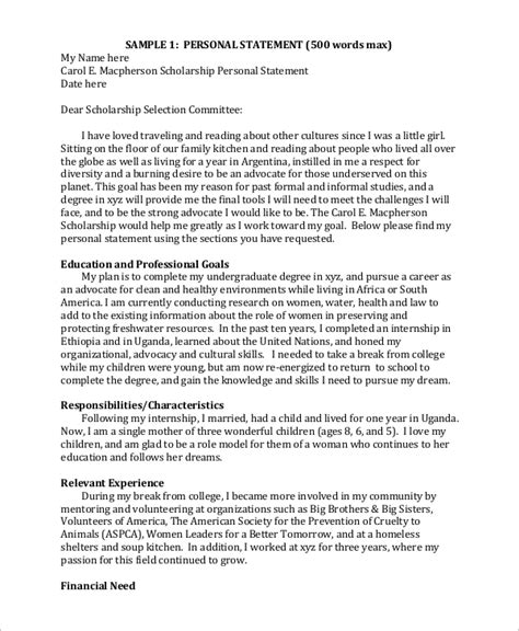 Hardship Letter Single Parent Essays Scholarships Sle