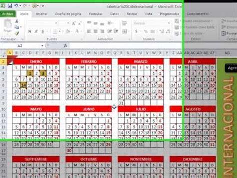calendario vba nativo para excel 2007 2010 2013 expectacular calendario excel 2015 gratis con agenda y