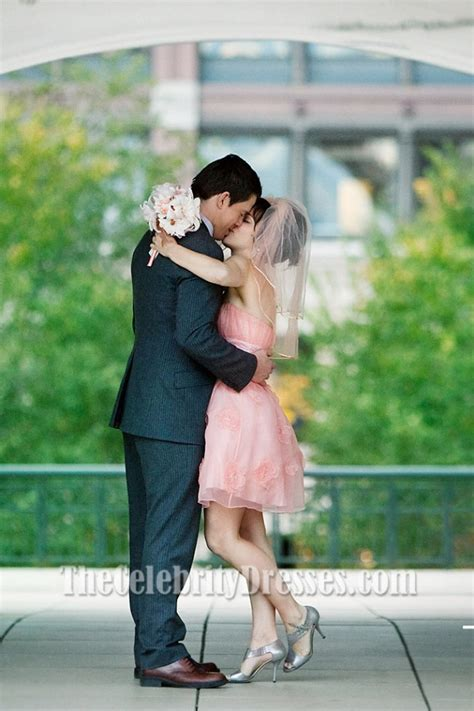the vow wedding house mcadams pink wedding dress in the vow