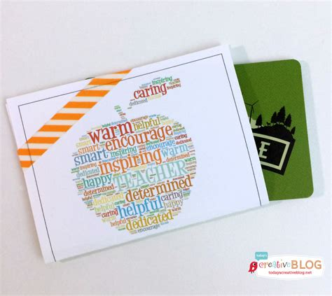 Teacher Gift Card Ideas - teacher appreciation week gift ideas today s creative life