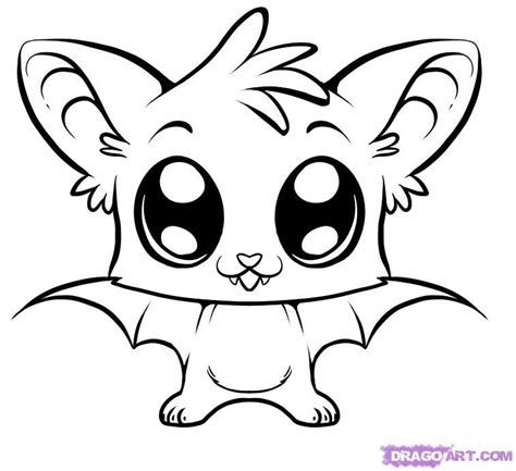 Colouring Pad Baby Animals coloring pages how to draw a bat step 6 cool things to draw bats and