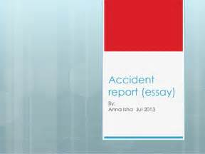 Thesis Wreck Accident Report Essay