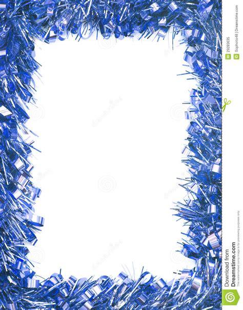 Blue Christmas Tinsel Garland Stock Image Image 29283635
