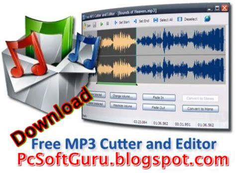 download free mp3 cutter and editor for pc pcsoftguru free pc programs downloads home download