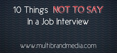 10 Things Not To Do 10 Things Not To Say In A Multibrand Media