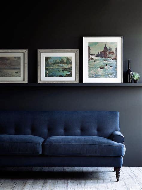 dark blue velvet sofa best 25 dark sofa ideas on pinterest black sofa living