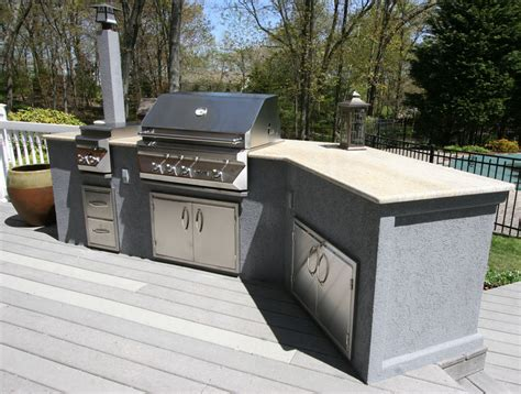 custom built outdoor kitchens 2011 lazy l stucco with molding