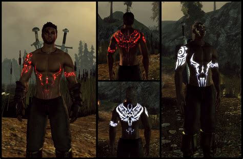skyrim tattoo mod glowing tattoos at age mods and community