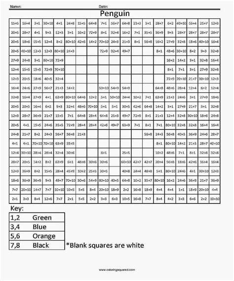 pixel art coloring page division coloring sheets free coloring sheet