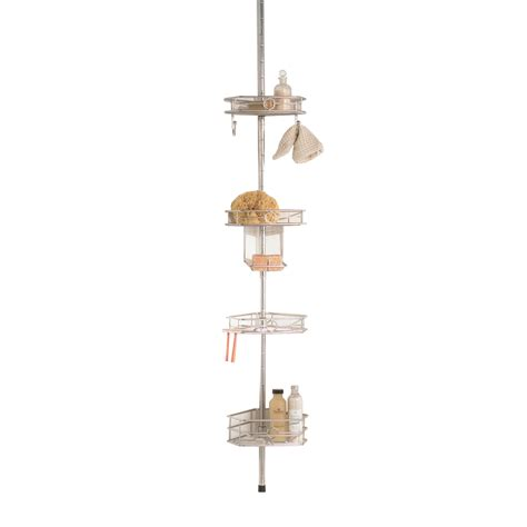 Hanging Shower Caddy by Shop Allen Roth 108 In H Mount Stainless Steel Hanging Shower Caddy At Lowes